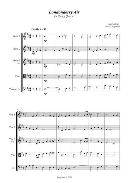 Londonderry Air (Danny Boy) - Jazz Arrangement for String Quartet