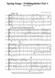 Spring Songs - Frühlingslieder - Part 1 - German Folk Songs - Brass Quartet