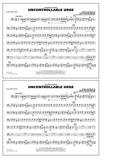 Uncontrollable Urge - Electric Bass