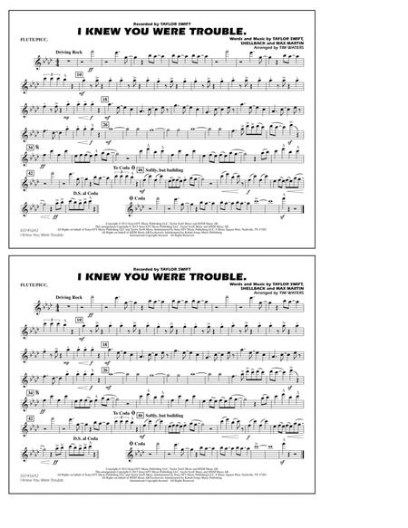 I Knew You Were Trouble - Flute/Piccolo