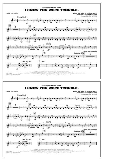 I Knew You Were Trouble - 2nd Bb Trumpet