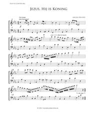 Jezus, Hij Is Koning - Flute and Double Bass In Eb (accompaniment for Mixed Choir)
