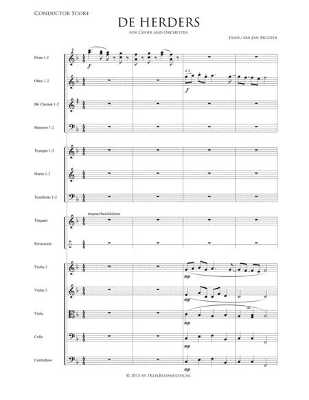 De Herders - Symphony Orchestra- Flute, Oboe, Strings, Trumpet, Percussion (Accompaniment For Mixed Choir)