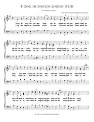 Hoor, De Eng'Len Zingen D'Eer - Small Mixed Choir And Piano Or Organ