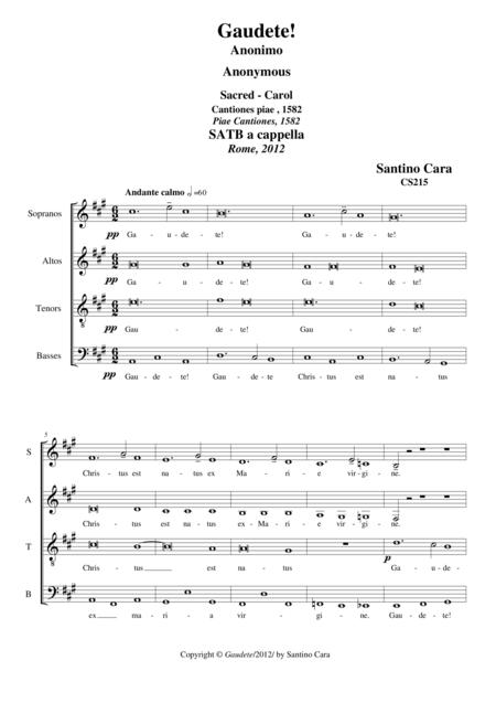 Gaudete!_Sacred-Carol for Choir SATB a cappella