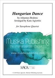 Hungarian Dance - in a Jazz Style - for Saxophone Quartet