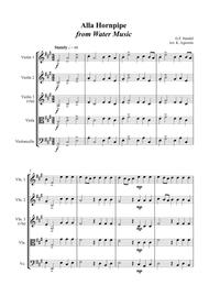 Alla Hornpipe from Handel's Water Music - for String Quartet