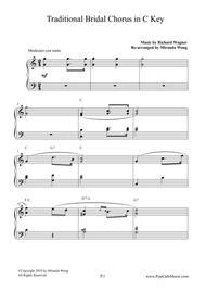 Bridal Chorus ( Contemporary Edition ) in C Key