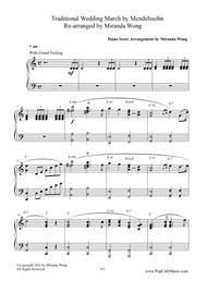 Wedding March ( Wedding Version) for Piano