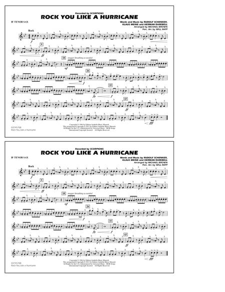 Rock You Like a Hurricane - Bb Tenor Sax