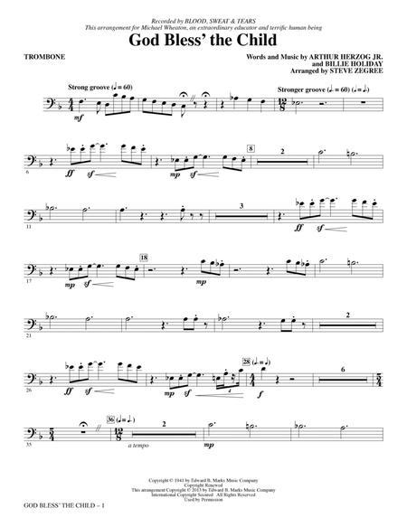 God Bless' The Child - Trombone