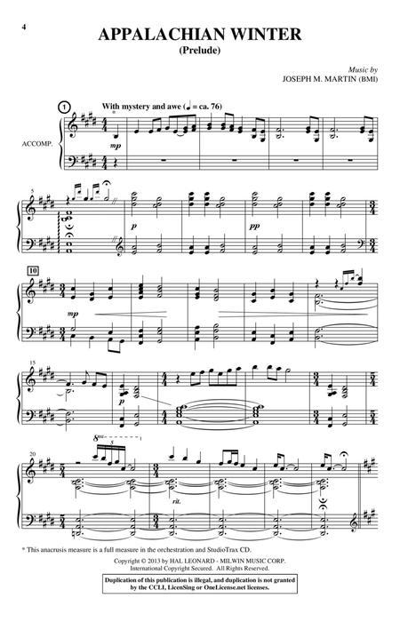 Appalachian Winter (A Cantata For Christmas)