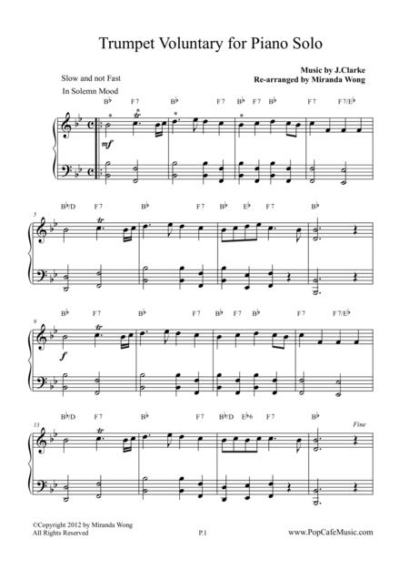 Trumpet Voluntary / The Prince of Denmark's March (Piano)