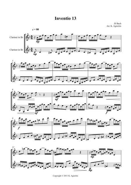 Inventio - Duet for 2 Clarinets