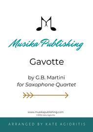 Gavotte - for Saxophone Quartet