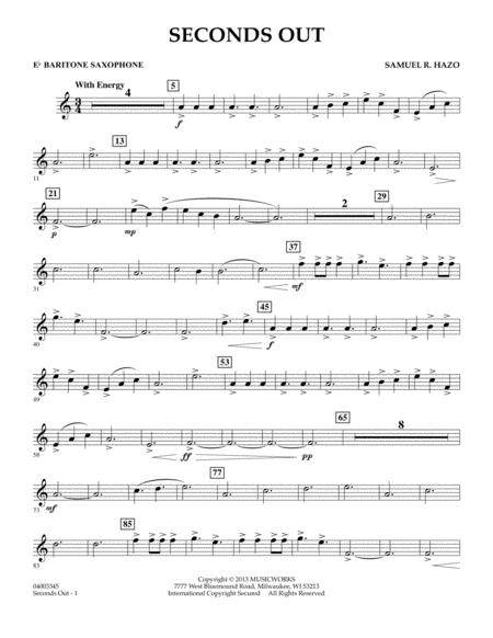 Seconds Out - Eb Baritone Saxophone
