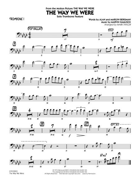 The Way We Were - Trombone 1