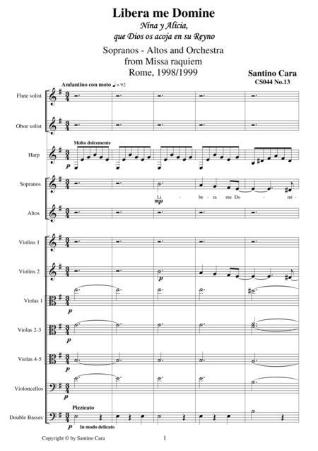 Libera me domine - Sequence no.13 of the Missa Requiem CS044