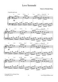 Love Serenade - Easy Piano Solo