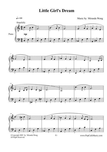 Little Girl's Dream -  Easy Piano Solo