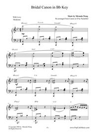 Bridal Canon in Bb - Wedding Piano Music by Miranda Wong