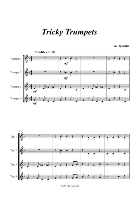 Tricky Trumpets - Quartet for Young Trumpet Players