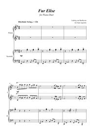 Fur Elise - Jazz Arrangement - for Piano Duet