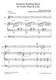Romantic Wedding March - Short Version for Violin, Piano & Cello