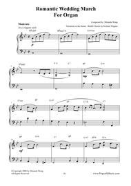 Romantic Wedding March - Short Version for Organ Solo by Miranda Wong