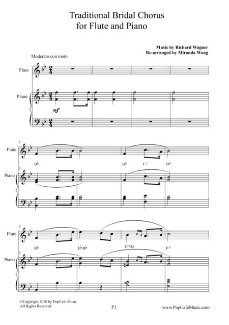 Traditional Bridal Chorus for Flute & Piano