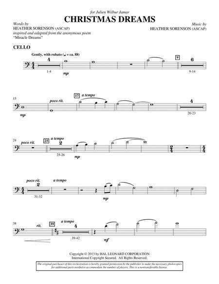 Christmas Dreams - Cello