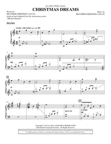 Christmas Dreams - Piano