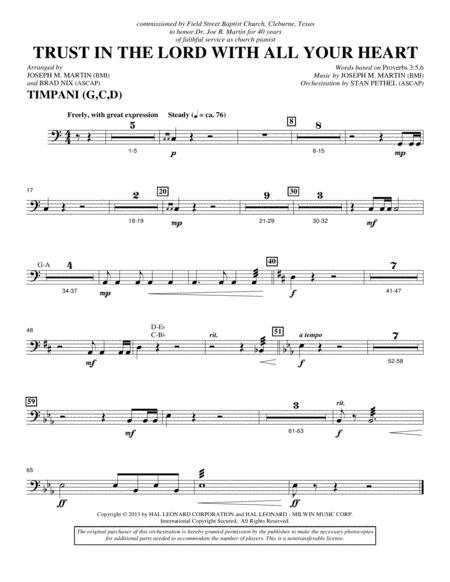 Trust In The Lord With All Your Heart - Timpani