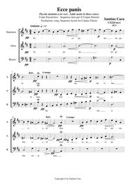 Ecce panis - Little motet in three voices (SAB) a cappella