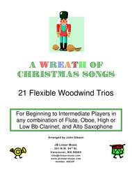 A Wreath of Christmas Songs - easy woodwind trios