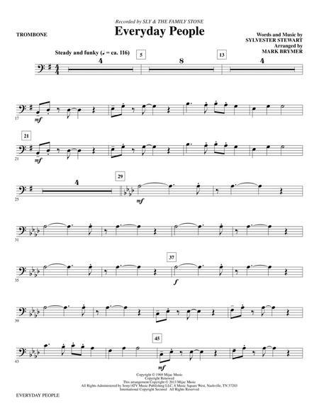 Everyday People - Trombone
