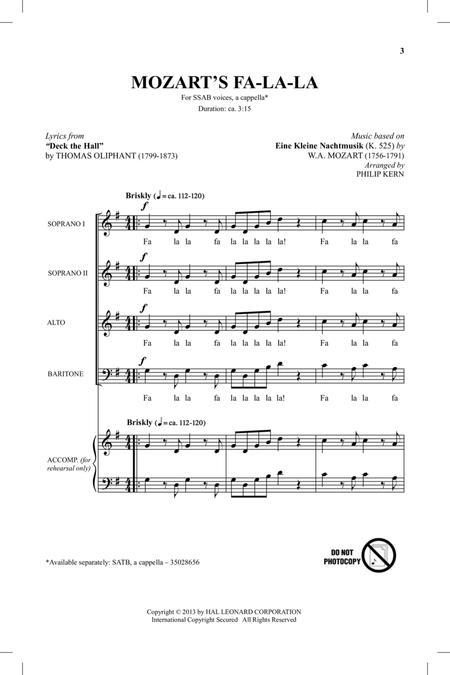 Mozart's Fa-La-La