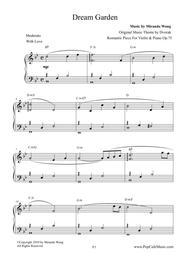 Romantic Piece OP.75 (Dream Garden) by Dvorak - Piano Solo