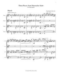 3 Pieces from The Nutcracker for Flute Quartet