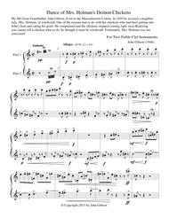 Dance of Mrs. Holman's Demon Chickens for two clarinets