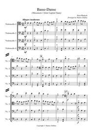 Basse-Danse (Movement 1 from Capriol Suite) [Cello Quartet]