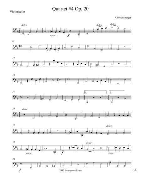 Quartet #4 Op. 20 in F Major
