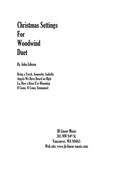 Christmas Settings for Flute and Clarinet Duet