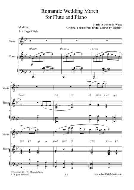 Romantic Wedding March - Short Version for Flute & Piano