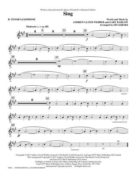 Sing (Queen Elizabeth Diamond Jubilee) - Tenor Saxophone