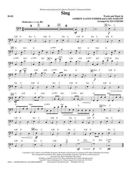 Sing (Queen Elizabeth Diamond Jubilee) - Bass