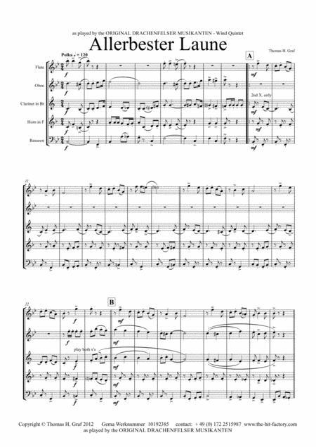Allerbester Laune - German Polka - Wind Quintet