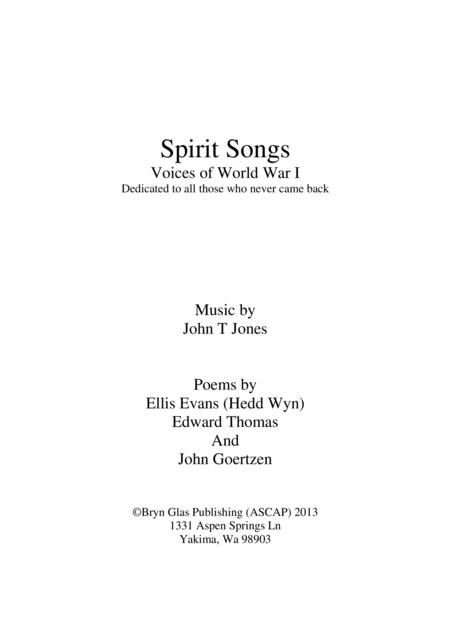 Spirit Songs: Voices of WWI