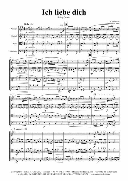 Ich liebe dich - Beethoven goes Polka - String Quartet