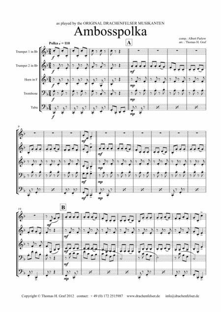 Amboss-Polka - German Polka - Oktoberfest - Brass Quintet